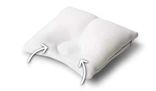 Träumeland T040322 6-18 CAREFOR Entwicklungskissen Maxi (2-8 Monate) -Spezialkissen zur Prävention und Abhilfe von Kopfverformung, Weiß
