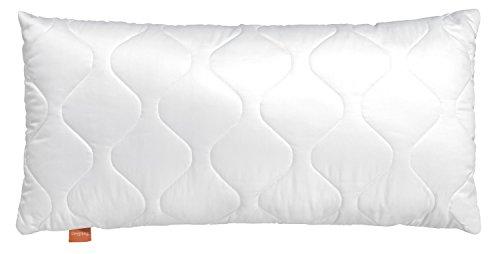 sleepling 190028 Komfort 300 Kopfkissen Baumwolle Satin 40 x 80 cm, weiß