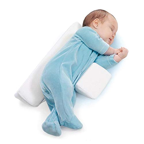 Einstellbare Baby Schlafkissen Baby Anti-Rollover Taille Side Sleep Pillow Weiches Atmungsaktives, Kreative Dreieck DesignWhite
