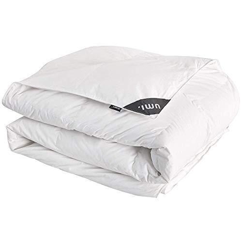 Umi. by Amazon - Luxuriöse 4 Jahreszeiten Bettdecke, Bettdecke mit Weißen Gänsefedern und -daunen, für Das Ganze Jahr, 135 x 200cm,Weiß