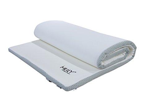 Mlily Ebitop Ebi - A 140.4 Traum-Schlaf Visko-Matratzenauflage, Matratzenauflagen, Auflage, viscoelastische Topper 140x200x4 cm, weiß