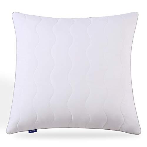Sweetnight Kopfkissen 80 x 80 cm allergiker Kissen Hotel nackenstützt Polyesterholfaser Kissen einstellbar Füllungen innenbezug mit Reißverschluss