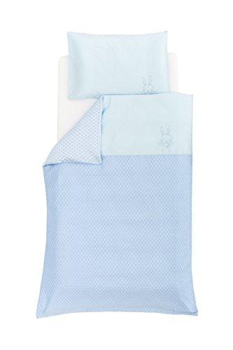 Träumeland TT17203 Bettwäsche Traumhäschen blau, 80 x 80 cm, mehrfarbig
