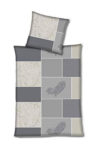 Hahn Edel Flanell Bettwäsche Beige Taupe Sand 140x200 cm + 70x90 cm