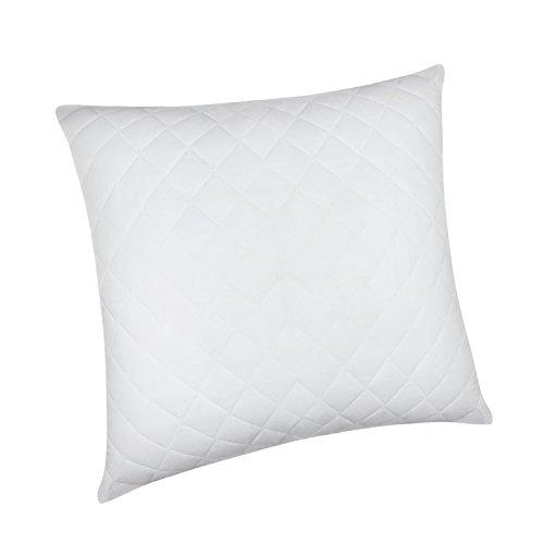HOMFY Kissen 80x80cm, Weich Mikrofaser Kopfkissen (1400g) mit Baumwollebezug, Allergiker Schlafkissen, Atmungsaktiver und Stützen