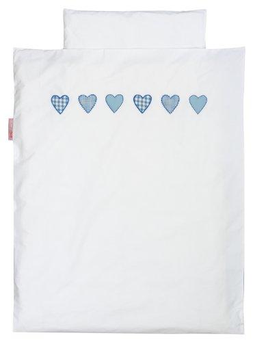 TAFTAN DS-182 Herzen Karierter Bettwäsche Set für klein Bett, 100 x 135 cm, in 8 farben verfügbar