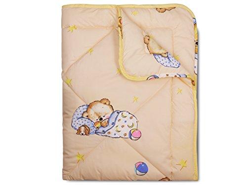 npluseins Spiel- und Krabbeldecke - kindgerechtes Design mit süßem Tiermotiv - erhältlich in 2 Varianten für Jungen und Mädchen - in Einer Einheitsgröße von ca. 100 x 135 cm, Teddy
