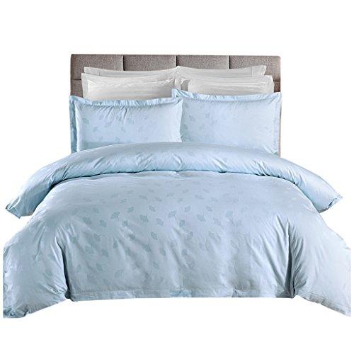 Rose Vierteilige Baumwolle, Hotelbettwäsche, Bettwäsche-Set, Einfach, Hellblau, Warm, 1.5m, 1.8m, 2.0m (Size : 2.0m)