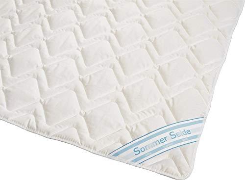 Wildseide Sommer Bettdecke Steppdecke Silk-Wash Füllung 60% Seide 40% Baumwolle GOA Bezug 100% Baumwolle (135x200 cm)