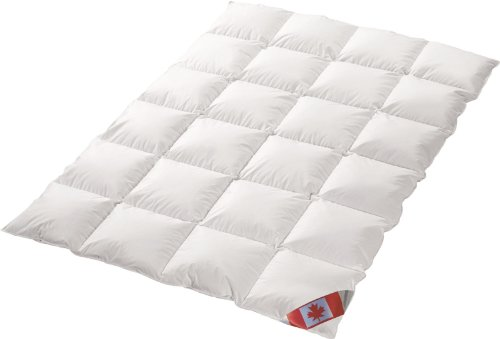 Schäfer Canada Dreams Luxus extra warmes Winterbett Daunendecke Wärmegrad 5 Luxus Daunenflaum ☆☆☆☆☆ (155x220 cm)