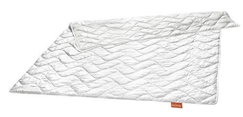 liebling Wildseidendecke Seiden-Leichtsteppbett aus 100% natürlicher Wildseide, Füllgewicht: 550 gr, 135 x 200 cm, weiß