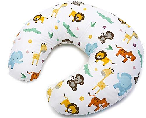 Stillkissen Klein Baby mit Stillkissenbezug aus 100% Baumwolle, abnehmbar Multifunktionale Positionierung von Mutter und Baby, Qualitat Niimo® (Dschungel)