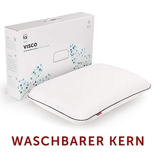 Blumtal Nackenstützkissen waschbarer Kissenkern - Visco Kopfkissen, Orthopädisches Schlafkissen, Nackenkissen, Kissen 40x60cm