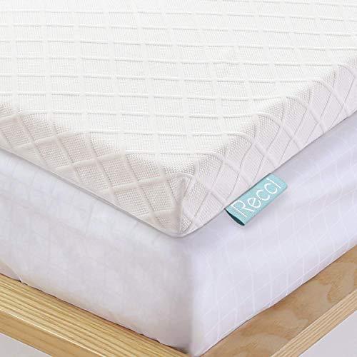 Recci 100% Reine, Originale RG50 Memory Foam Topper 200x200cm, Viskoelastische Matratzenauflagen für Boxspringbett oder als Matratzentopper für Unbequeme Doppelbetten [ 200 x 200 x 6cm ]