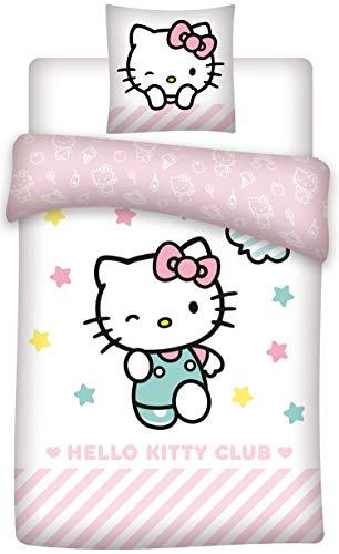 HK Hello Kitty Bettwäsche, Bettbezug für Einzelbett