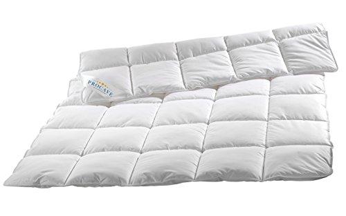 PROCAVE Micro-Comfort Ganzjahresdecke 155x200 cm | Mircofaser | Steppdecke | Bettdecke | Einziehdecke | Mono Decke | Steppbett | Soft Touch
