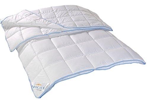 PROCAVE TopCool 4 Jahreszeiten Qualitäts-Bettdecke mit Druckknöpfen für Winter und Sommer   Soft-Komfort-Bettdecke 135x200cm
