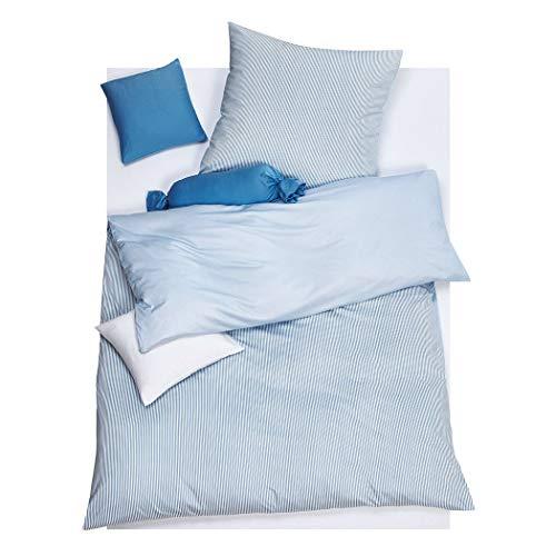 DORIS MEYER Interlock-Jersey Wendebettwäsche Raffi bleu Bettbezug einzeln 155x200 cm