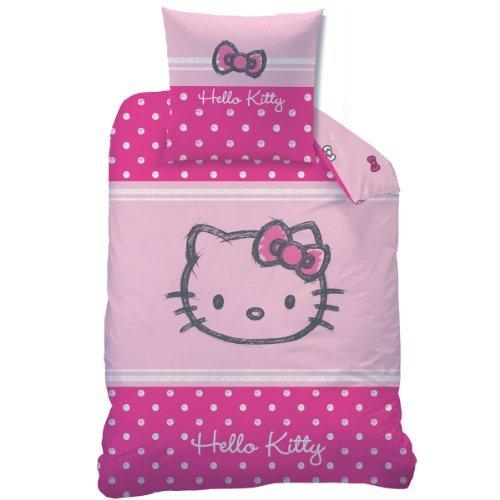 CTI 041065 Bettwäsche Hello Kitty Lola, Baumwolle Linon, 135 x 200 und 80 x 80 cm by CTI