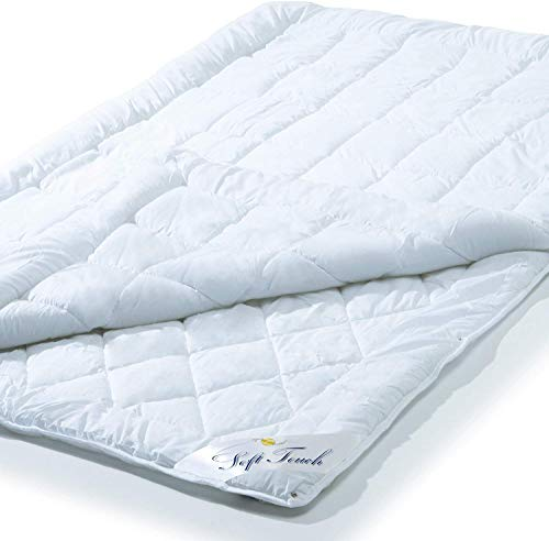 aqua-textil Soft Touch 4 Jahreszeiten Bettdecke, 155 x 220 cm, Steppdecke atmungsaktiv Decke Winter Sommer