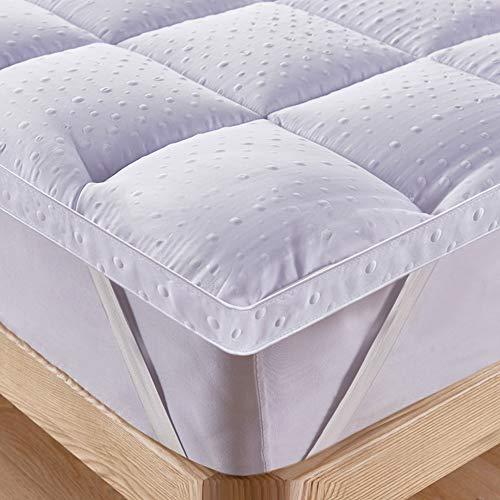 Bedecor Unterbett Matratzen Auflage Soft-Topper, Luxus-3D-Massage Bubbbles Abdeckung 160x200 cm Original Oeko-TEX