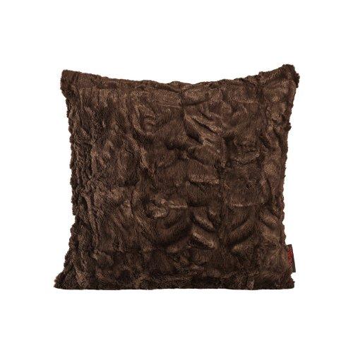 Fluffy Kissenhülle 40 x 40 cm kuschelweicher Plüsch in Felloptik (70 Braun) 1 Stück