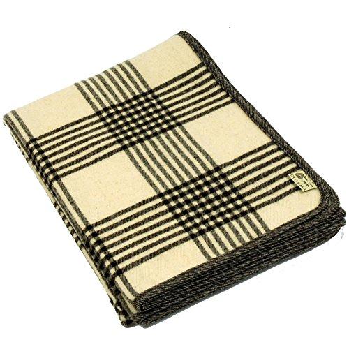 Mantas de Grazalema ® Wolldecke ENDRINAL Bettdecke | 100% Weiche Merinowolle | 230 x 170 cm | Schurwolldecke, Überwurf, Kuscheldecke, warme Decke