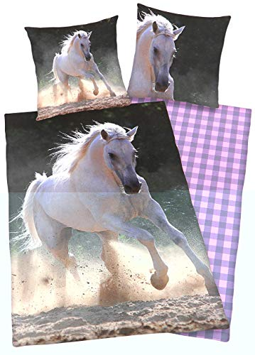 Foto Pferde-Bettwäsche Schimmel, 135x200cm