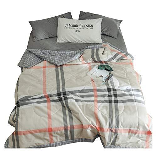 sommerbettwäsche kinder,sommerbettwäsche Baumwollsommerkühlung wird durch Baumwollsteppdecke klimatisiert, bis Sommer doppelte Steppdeckenkinder einzeln waschbar Sommer -1.5 * 2.0m