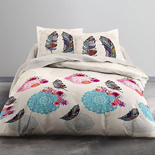Today 012281Hello Zeichnung Yoni Bettwäsche 2Personen + 2Kissenbezüge Baumwolle Muticolor 220x 240cm