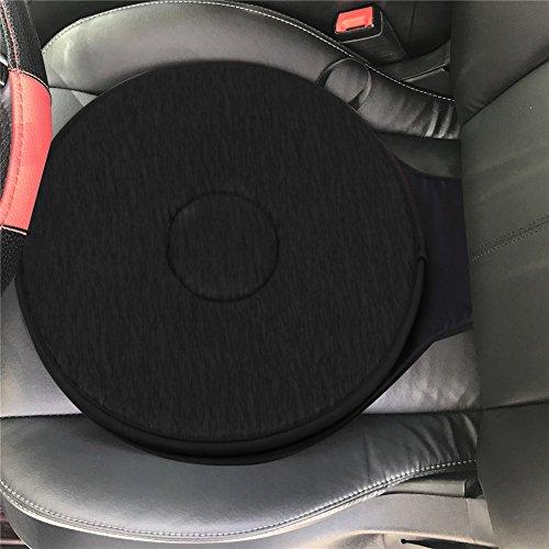 Swivel Sitzkissen für Auto für ältere Menschen, 360 ° Rotation leicht und tragbar Memory Foam Auto Swivel Sitzkissen Anti-Slip für Rücken, Hüfte, Steißbein Schmerzen leiden