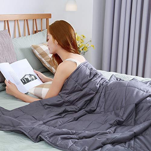 bedee Gewichtsdecke Bettdecken Kuscheldecken Weighted Blanket Schwere Gewichtete Decke Anti Stress Ideal für Entspannung, Besseren Schlaf für Erwachsene und Kinder 6,8kg 48 x 72 inches